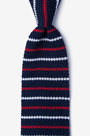 Swiss Stripe Knit Tie