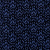 Navy Blue Silk Texture Solid Knit Skinny Tie