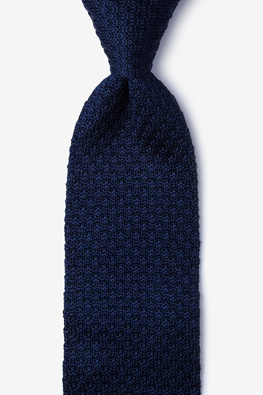 Texture Solid Knit Tie