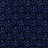 Navy Blue Silk Textured Solid Knit Tie