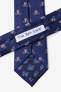 The Spin Cycle Navy Blue Skinny Tie Photo (2)
