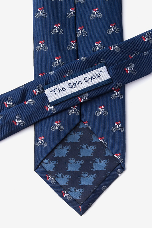 The Spin Cycle Navy Blue Tie Photo (2)