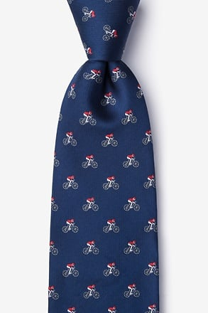 _The Spin Cycle Navy Blue Tie_