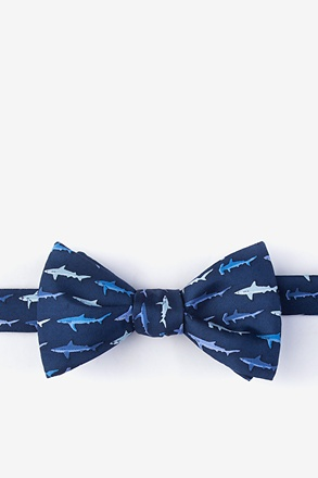 _Totally Jaw-some Navy Blue Self-Tie Bow Tie_