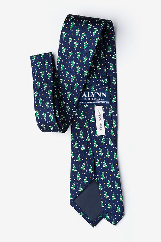Tree-mendous Navy Blue Extra Long Tie Photo (2)
