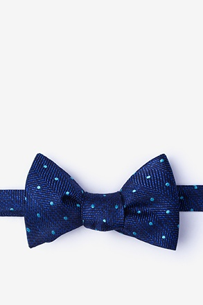 Tully Navy Blue Self-Tie Bow Tie