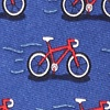 Navy Blue Silk Two Tire-d Tie