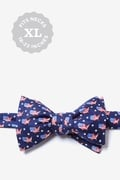 Navy Blue Silk U! S! A! Butterfly Bow Tie