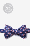 Navy Blue Silk U! S! A! Self-Tie Bow Tie