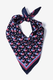Navy Blue Silk U!S!A! Neckerchief