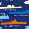 Navy Blue Silk U.S. Aircraft Carriers