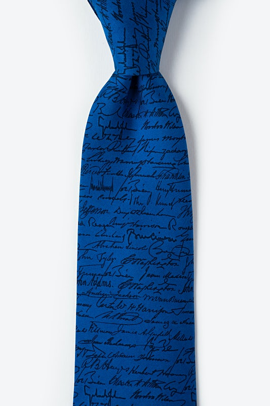 U.S. Presidential Signatures Tie Photo (0)