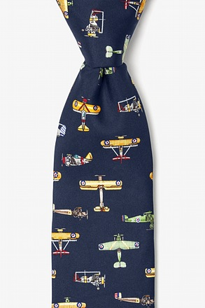 _Vintage U.S. Warplanes Navy Blue Tie_