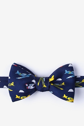 Warbirds Navy Blue Self-Tie Bow Tie