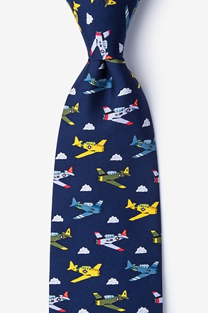 Warbirds Navy Blue Tie