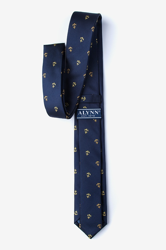 What's the Holdup? Navy Blue Skinny Tie Photo (1)