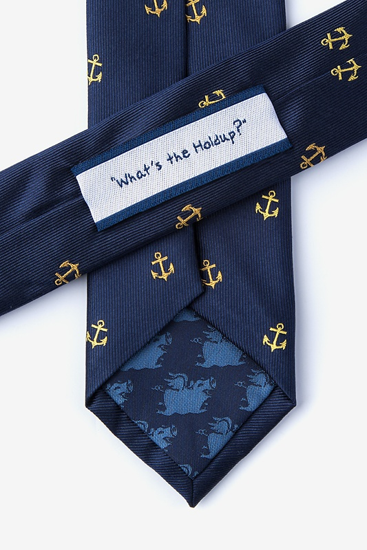What's the Holdup? Navy Blue Skinny Tie Photo (2)