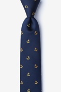 Navy Blue Silk What's the Holdup? Skinny Tie