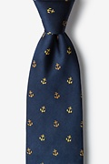 Navy Blue Silk What's the Holdup? Tie