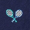 Navy Blue Silk What A Racquet
