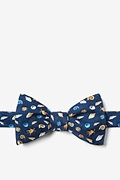 Navy Blue Silk What the Shell? Self-Tie Bow Tie