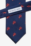 Will Work for Lobster Navy Blue Tie Photo (1)