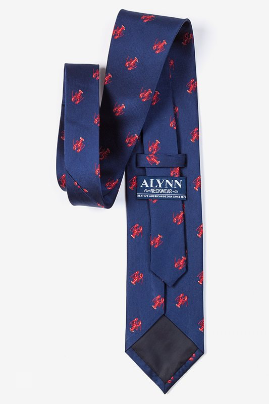 Will Work for Lobster Navy Blue Tie Photo (2)