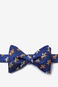 Navy Blue Silk Win, Place, Show Self-Tie Bow Tie