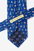 Wish You Were Beer Navy Blue Extra Long Tie Photo (2)