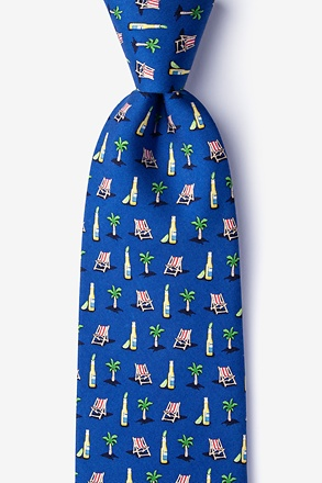 _Wish You Were Beer Navy Blue Extra Long Tie_