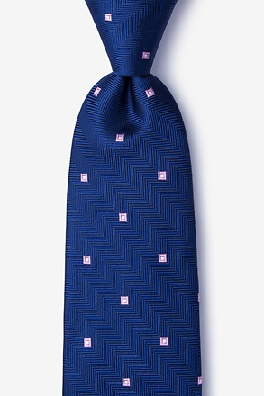 _Wooley Navy Blue Tie_