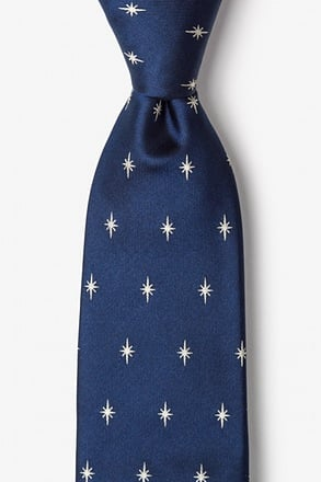 _Written In The Stars Navy Blue Tie_