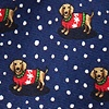 Navy Blue Silk Yappy Howlidays Extra Long Tie