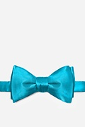 Neon Blue Silk Neon Blue (Electric Blue) Butterfly Bow Tie