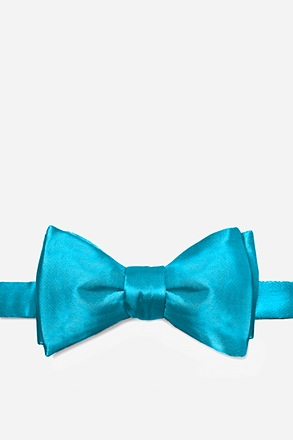 _Neon Blue (Electric Blue) Self-Tie Bow Tie_