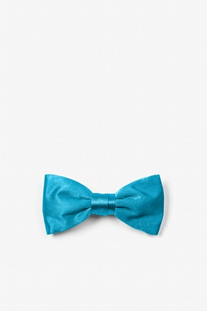 Neon Blue Bow Tie For Infants