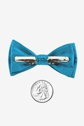 Neon Blue Bow Tie For Infants Photo (1)