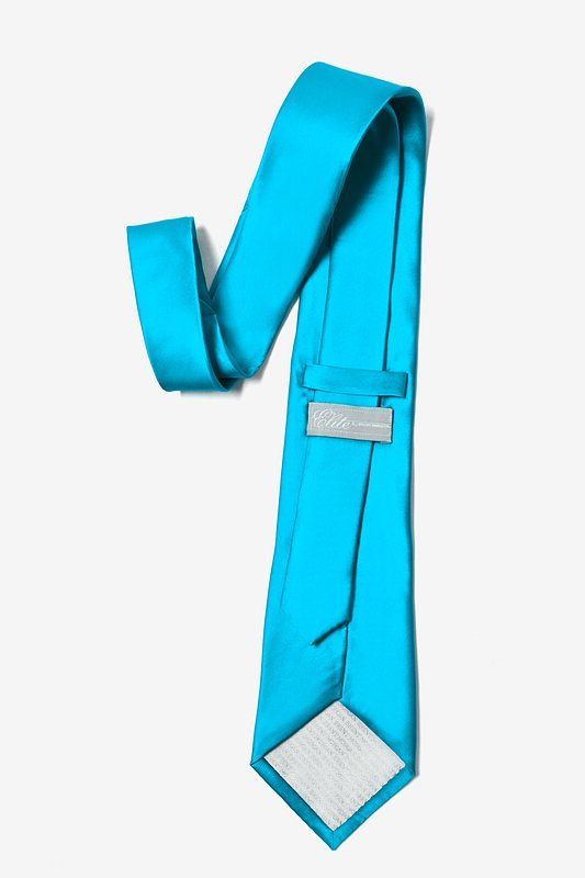 Neon Blue Extra Long Tie Photo (2)