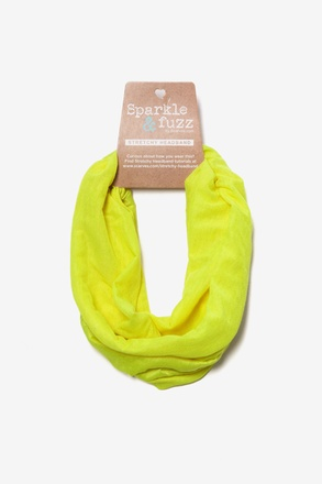 Basic Stretchy Neon Yellow Headband