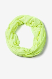 Neon Yellow Polyester Boston Solid Neon Yellow Infinity Scarf