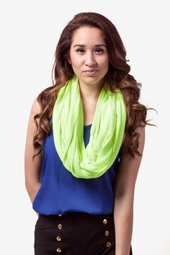 Boston Solid Neon Yellow Infinity Scarf