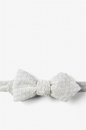 Off White Tangent Diamond Tip Bow Tie