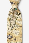Ancient Art of Portugal Map Tie Photo (0)
