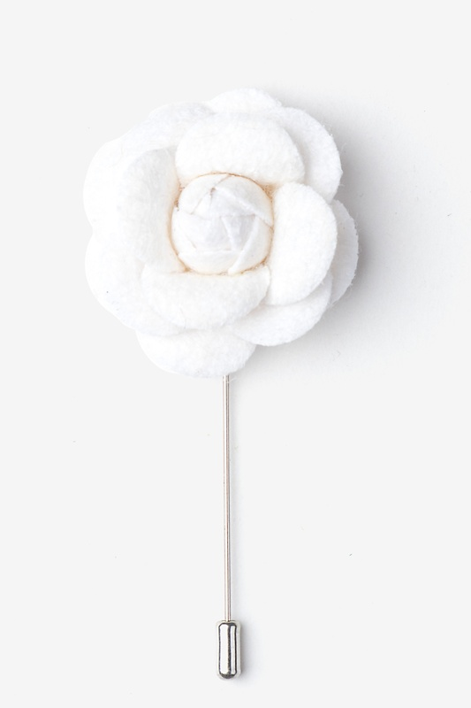 Off white wool felt off white wool felt rose lapel pin ties off white wool felt rose lapel pin mightylinksfo