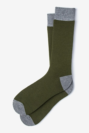 Solid Choice Olive Sock