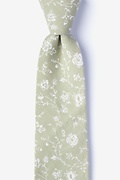 Olive Cotton Bexley Extra Long Tie