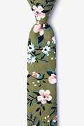 Olive Cotton Holden Skinny Tie