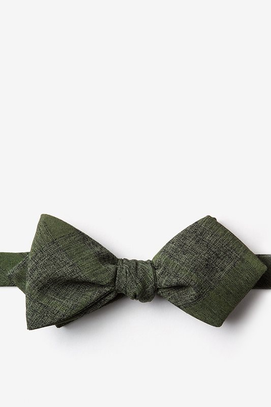 Kirkland Olive Diamond Tip Bow Tie Photo (0)