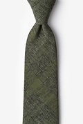 Olive Cotton Kirkland Extra Long Tie
