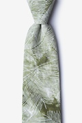 Olive Cotton Medina Extra Long Tie